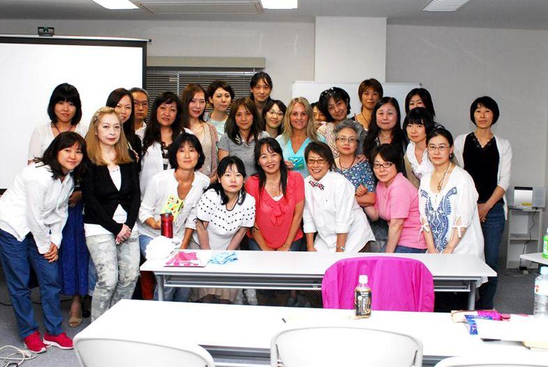 Denise teaching a Japan class