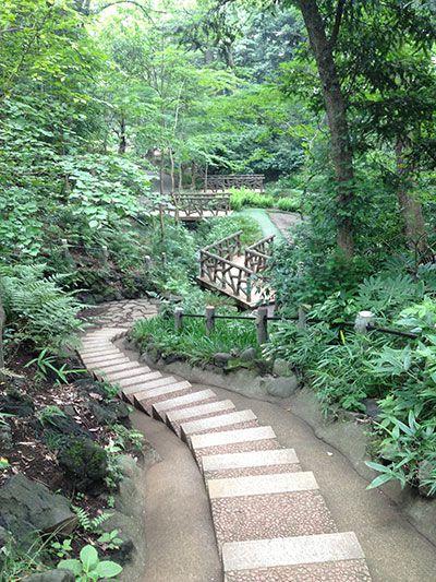 Outdoor pathway in Japan